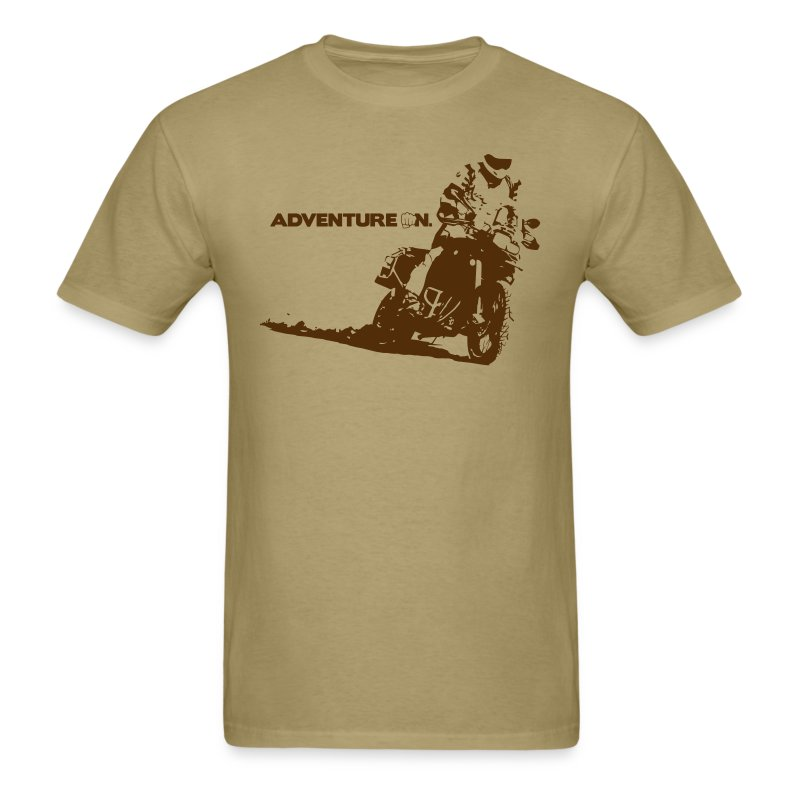 F8 Adventure On - Brown Logo - Men's T-Shirt