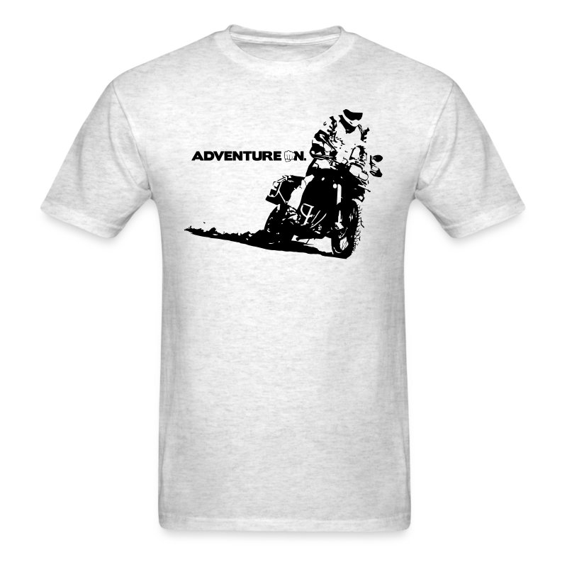 F8 Adventure On - Black Logo - Men's T-Shirt