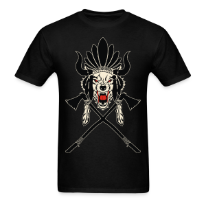 Wolf Indian Headdress - Men's T-Shirt