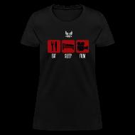 T-Shirts ~ Women's T-Shirt ~ Eat Sleep Film Woman's Shirt