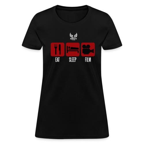 Eat Sleep Film Woman's Shirt - Women's T-Shirt