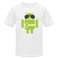 T-Shirts ~ Men's T-Shirt by American Apparel ~ Android Robot - Authority Edition
