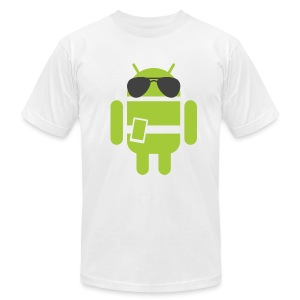 Android Robot - Authority Edition (Men's T-Shirt by American Apparel) - Men's Fine Jersey T-Shirt
