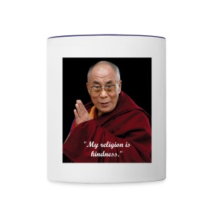 Dalai Lama - My Religion Is KIndness Coffee Cup - Contrast Coffee Mug