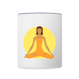 Women Sitting In Mediation Coffee Cup - Contrast Coffee Mug