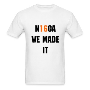 we made it (black) - Men's T-Shirt