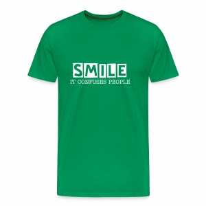 Smile, It Confuses People Men's Premium T-Shirt - Men's Premium T-Shirt
