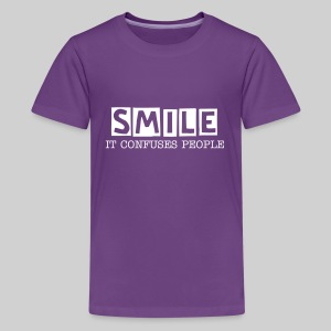Smile, It Confuses People Kids' Premium T-Shirt - Kids' Premium T-Shirt