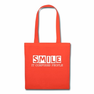 Smile, It Confuses People Tote Bag - Tote Bag