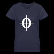 Women's T-Shirts ~ Women's V-Neck T-Shirt ~ C0DA (White) - Ladies
