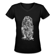 Women's T-Shirts ~ Women's V-Neck T-Shirt ~ The Mane (White) - Ladies