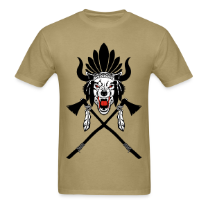 Wolf Indian Headdress II - Men's T-Shirt