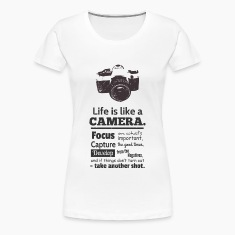 grunge camera quote on life Women's T-Shirts