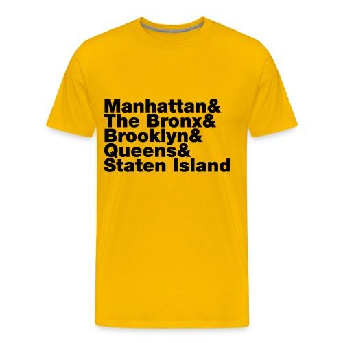 Five Boroughs  - Men's Premium T-Shirt