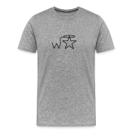 T-Shirts ~ Men's Premium T-Shirt ~ Men's 3X-4X Black Logo Wranglerstar