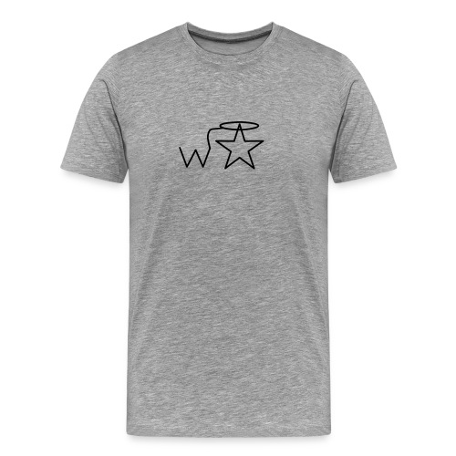 Men's 3X-4X Black Logo Wranglerstar - Men's Premium T-Shirt