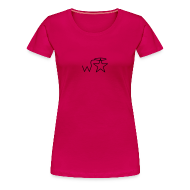 T-Shirts ~ Women's Premium T-Shirt ~ Women's Black Logo Trecento Wranglerstar