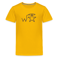 Kids' Shirts ~ Kids' Premium T-Shirt ~ Kids' NAVY Logo Wranglerstar