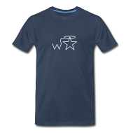 T-Shirts ~ Men's Premium T-Shirt ~ Men's 3X-4X White Logo Wranglerstar