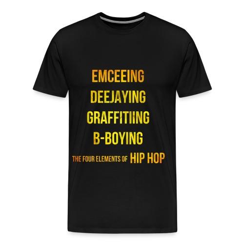 The Four Elements of Hip Hop - Men's Premium T-Shirt