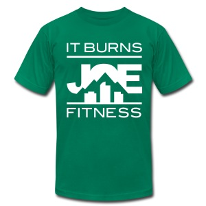 It Burns Joe Fitness - Men's T-Shirt by American Apparel