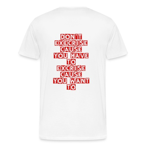 Working out is a lifestyle T-Shirt for men - Men's Premium T-Shirt