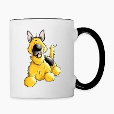 Happy German Shepherd Dog - Dogs Bottles & Mugs