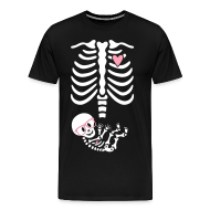 T-Shirts ~ Men's Premium T-Shirt ~ Geek/Nerd Skeleton Non-Maternity w/Baby Heart