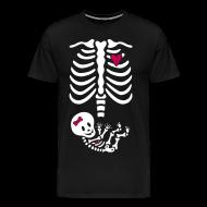 T-Shirts ~ Men's Premium T-Shirt ~ Skeleton Maternity -girl/heart (Mens 3X, 4X shirt)