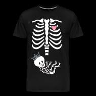 T-Shirts ~ Men's Premium T-Shirt ~ Princess Skeleton Maternity Costume / non maternity up to 5X