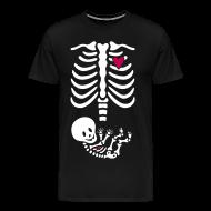 T-Shirts ~ Men's Premium T-Shirt ~ Skeleton Maternity -baby/heart (Mens 3X, 4X shirt)