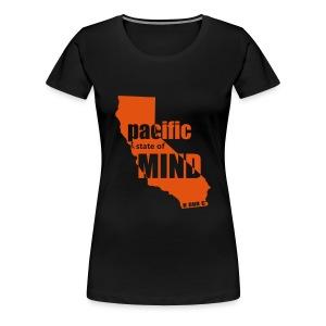 Left Coast Black/Orange - Women's Premium T-Shirt