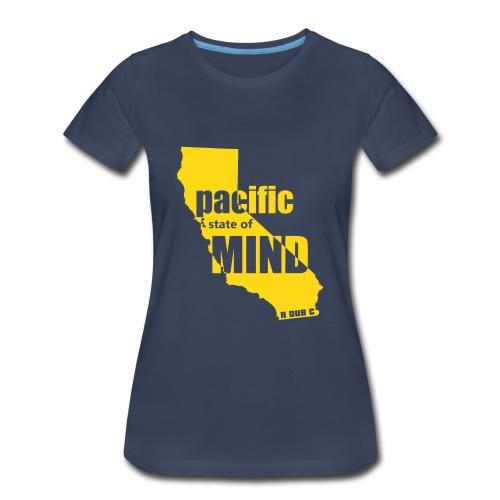 Left Coast Navy/Gold - Women's Premium T-Shirt