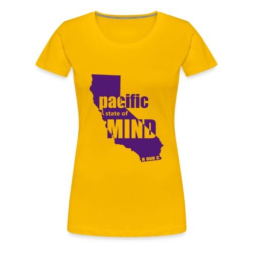Left Coast Yellow/Purple - Women's Premium T-Shirt