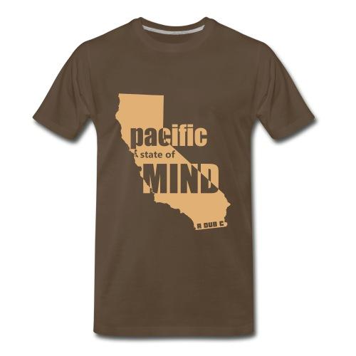 Left Coast Brown/Sand - Men's Premium T-Shirt