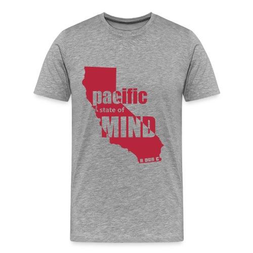Left Coast Heather/DarkRed - Men's Premium T-Shirt