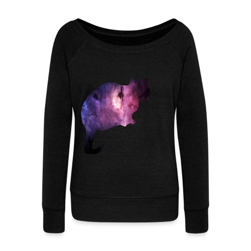 Galaxy Cat - Women's Wideneck Sweatshirt