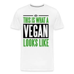 This is what a vegan looks like T-Shirts - Men's Premium T-Shirt