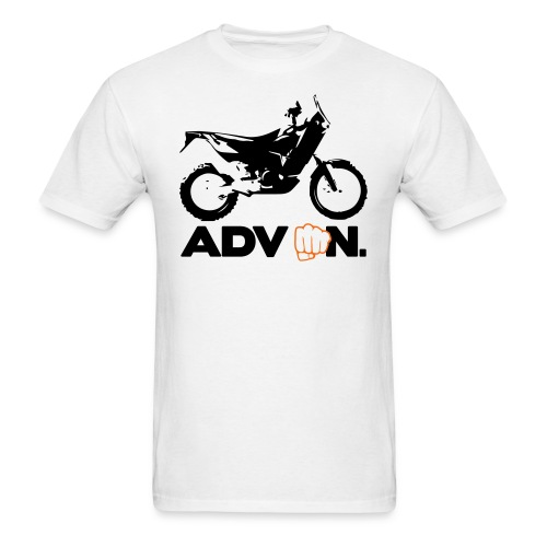 Orange ADV On - 2 Color Logo - Men's T-Shirt