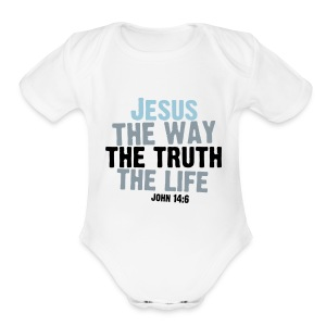 John 14:6 Baby Short Sleeve One Piece - Short Sleeve Baby Bodysuit