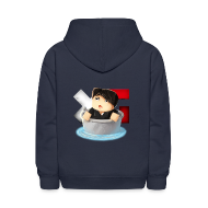 Sweatshirts ~ Kids' Hoodie ~ Kid's Navy XerainGaming Andre Bucket Hoodie