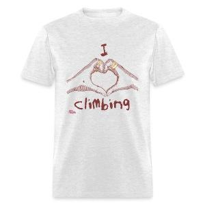 I LOVE CLIMBING - Men's T-Shirt