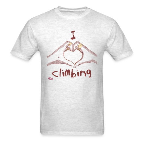 I LOVE CLIMBING - Men's T-Shirt