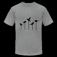 T-Shirts ~ Men's T-Shirt by American Apparel ~ BIRDS-on-STICKS