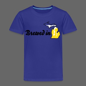 Brewed In Michigan - Toddler Premium T-Shirt