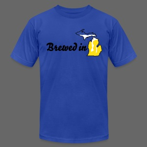 Brewed In Michigan - Men's T-Shirt by American Apparel