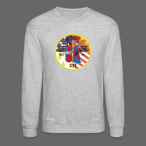 Detroit Rockin City Seal - Crewneck Sweatshirt