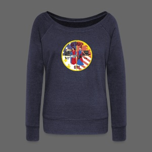 Detroit Rockin City Seal - Women's Wideneck Sweatshirt
