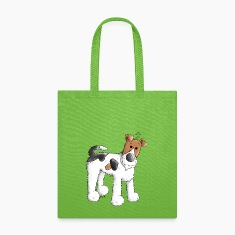 Funny Fox Terrier - Dog - Dogs Bags & backpacks