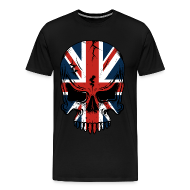 T-Shirts ~ Men's Premium T-Shirt ~ The British Flag Skeleton